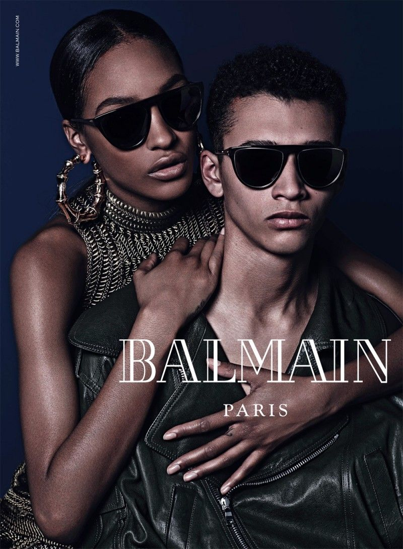 f5b18d8c2449 Balmain Fall Eyewear Campaign Images with Cara Delevingne & Jourdan Dunn