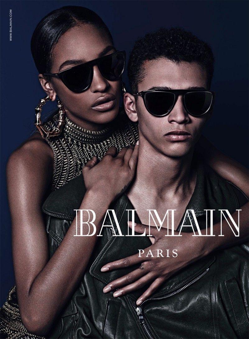 809f589341e3 Balmain Fall Eyewear Campaign Images with Cara Delevingne & Jourdan Dunn