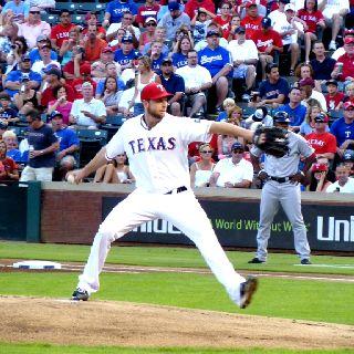 Texas Rangers windup