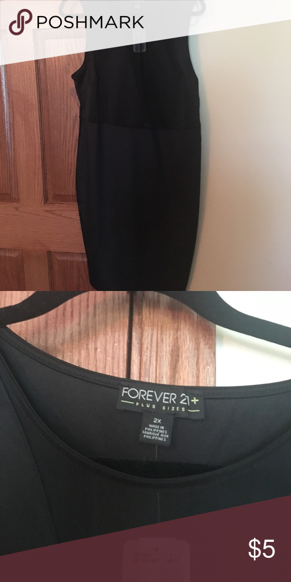 Nwt Black Bodycon Dress With Sheer V Neck Nwt My Posh Closet