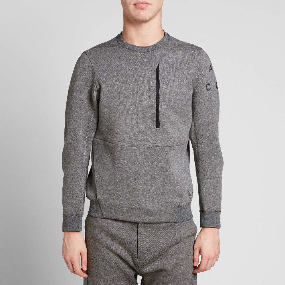 NikeLab ACG Tech Fleece Crew (Carbon Heather) · Nike AcgMen's ...