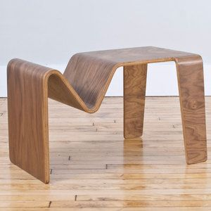 Charming Tre Table In Walnut By Isaac Krady. A Bent Plywood Multi Function Table:  Use It Horizontally As An End Table, Or Vertically As A Tv Or Laptop Tray. Good Ideas