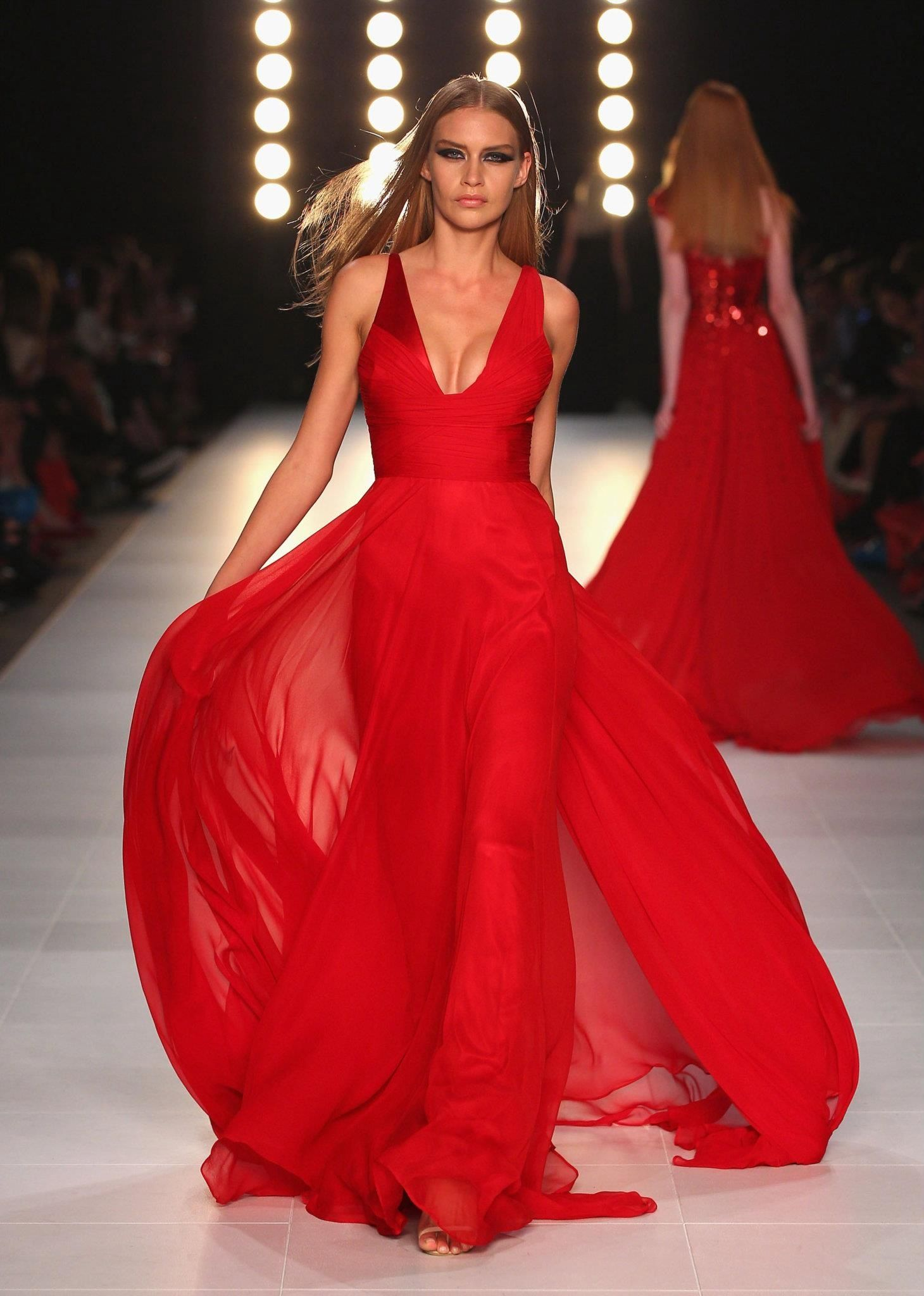 Wow! Red hot at Alex Perry - Image credit: Lucas Dawson