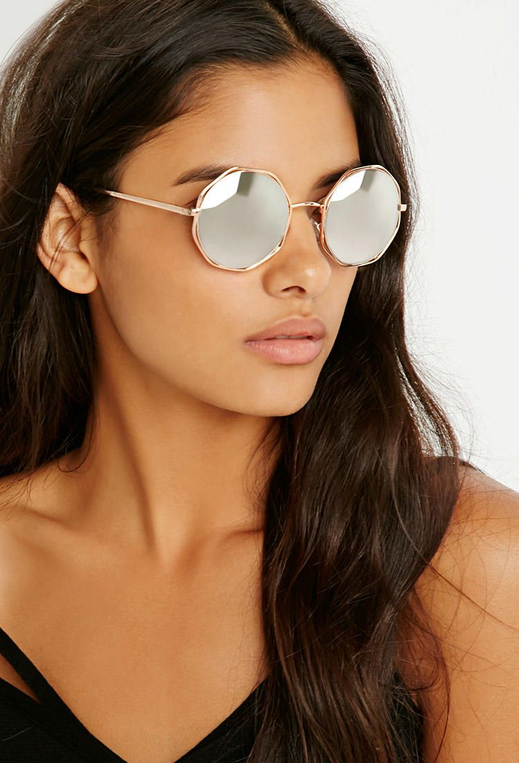 873f52e169b7 Octagon Round Sunglasses from Forever 21. Shop more products from Forever  21 on Wanelo.