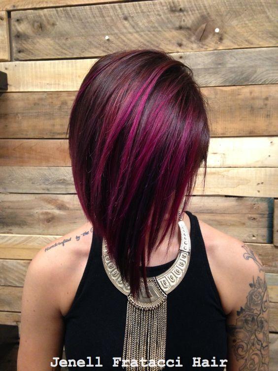 Magenta Balayage Hair My Work In 2019 Balayage Hair