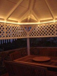 Rope Lights For Pergola Gazebo Lighting Backyard Lighting Yard