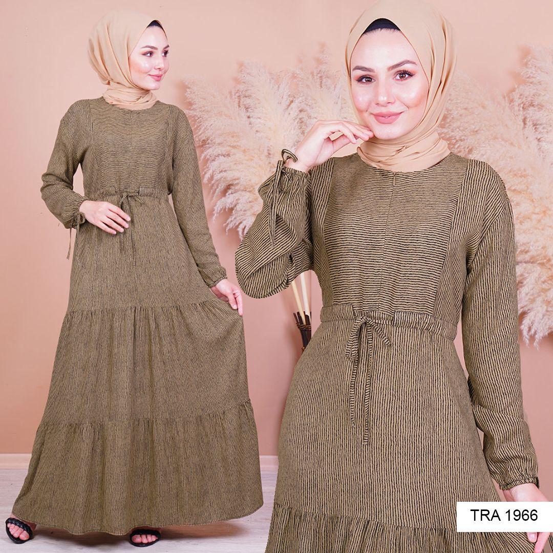 Onden Fermuarli Tesettur Elbise 2020 Elbise Elbise Modelleri Giyim