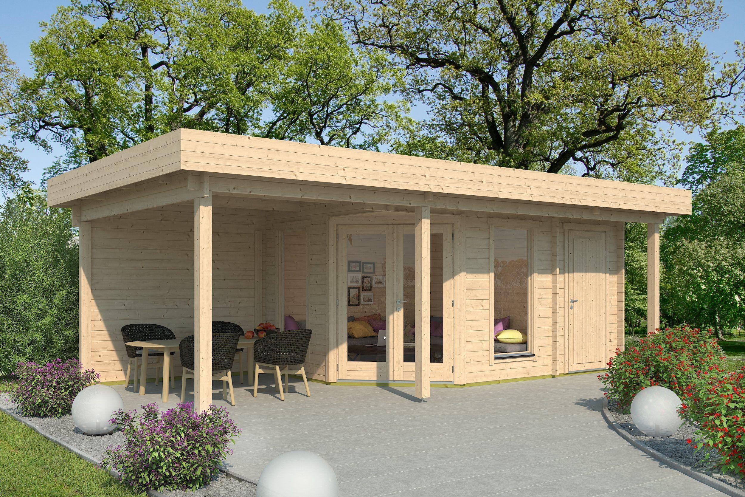 Lichtdurchflutetes 5 Eck Gartenhaus Mit Anbau In 2021 5 Eck Gartenhaus Gartenhaus Mit Terrasse Gartenhaus