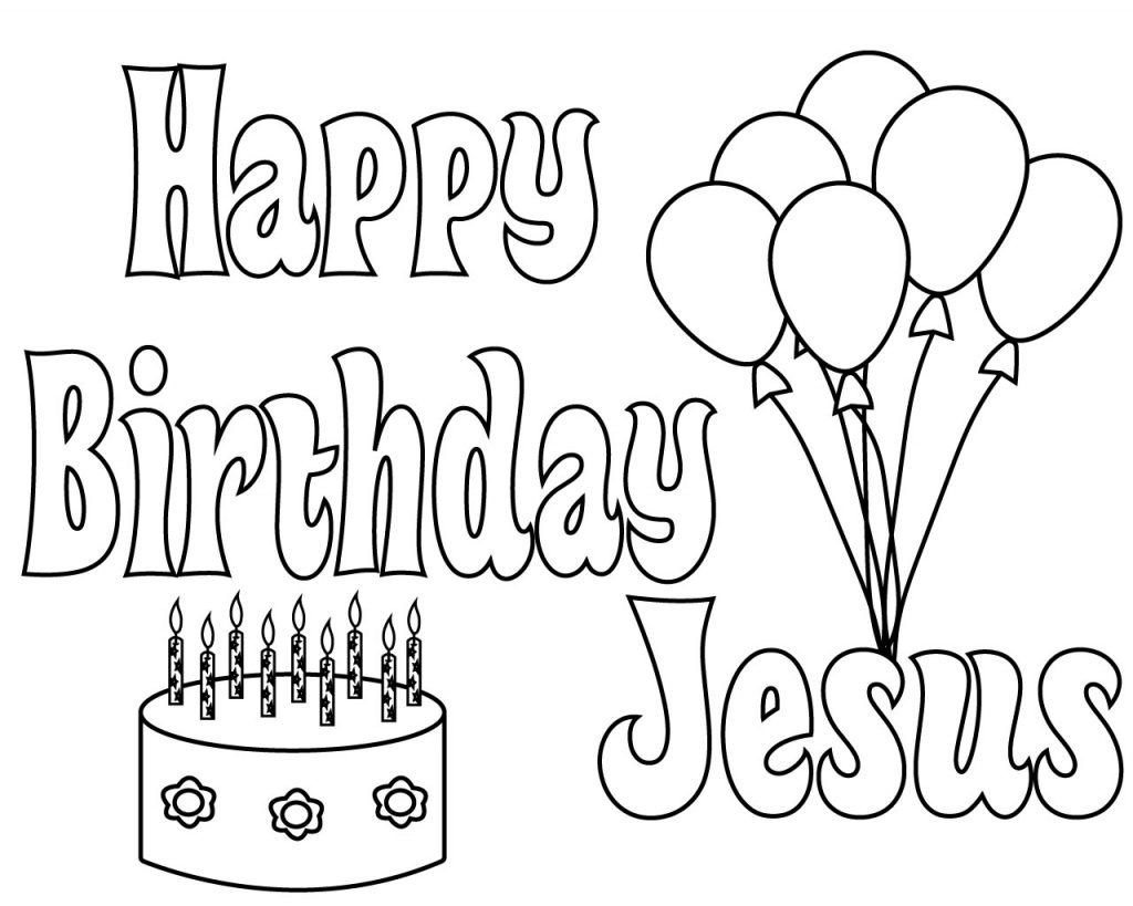 Happy Birthday Jesus Coloring Pages Free Printable Happy