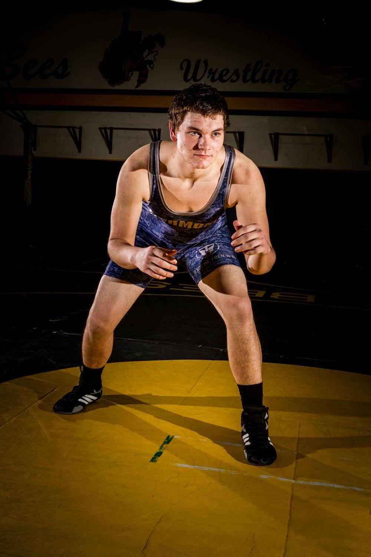 High School Wrestling, strobist, flash photography