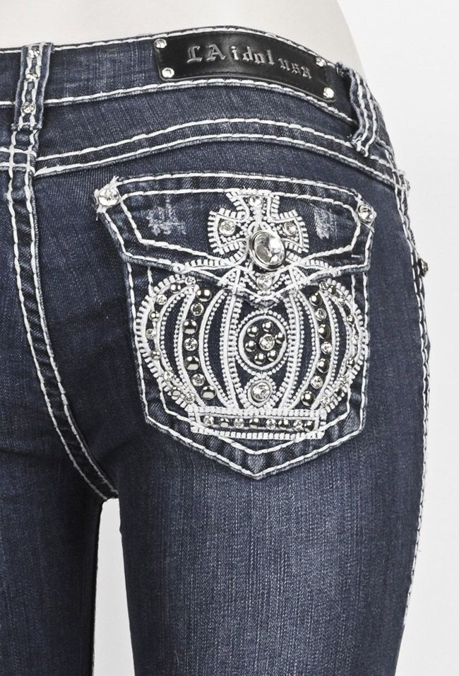elegant-designer-rhinestones-jeans-for-women | Fashion | Pinterest ...