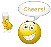 Image result for smiley emoji drinking champagne images