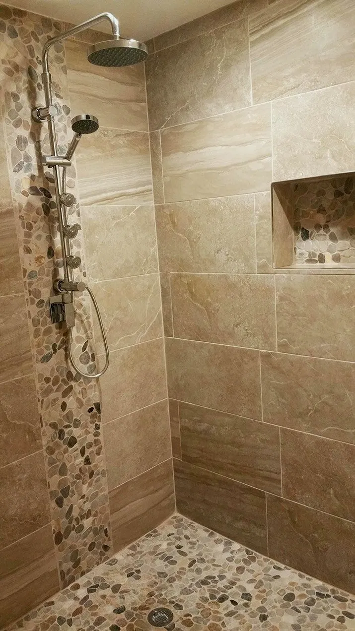 31 Master Bathroom Walk In Shower Ideas Bathroom Shower Tile Shower Remodel Stone Shower