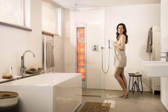 Het luxe infrarood paneel volledig geïntegreerd in uw badkamer ...