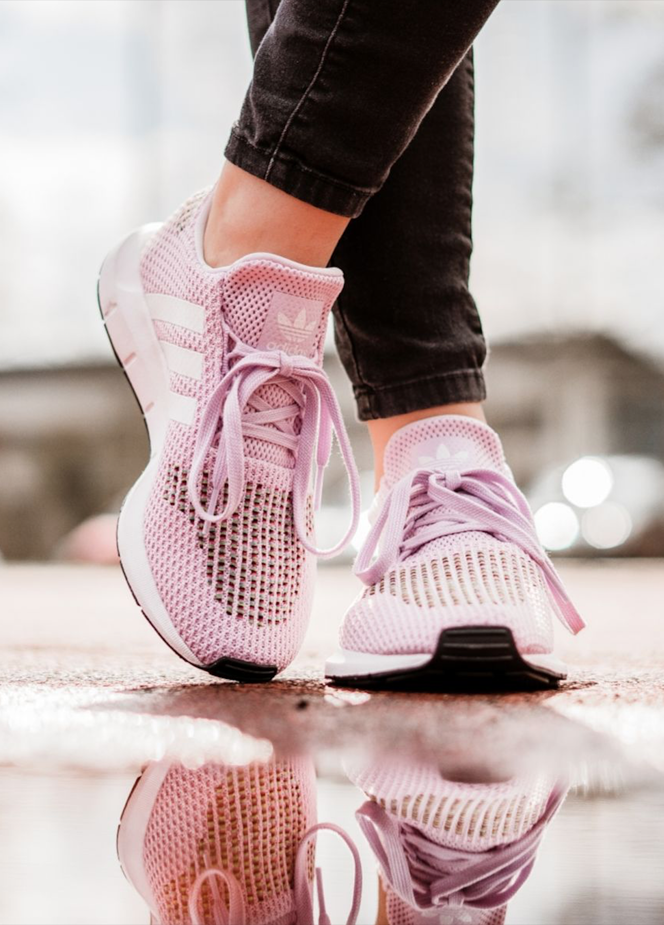 1c23a46e6c The stylish new adidas Swift Run Shoes in aero pink. Perfect for running or  to wear casually, these are one of the coolest adidas sneakers of 2018.