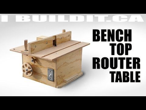 Bench top router table build youtube diy pinterest router bench top router table build youtube greentooth Gallery