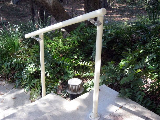 Simple Rail Handrail Kits Make It Easy To Install Handrail On Outdoor Stairs .