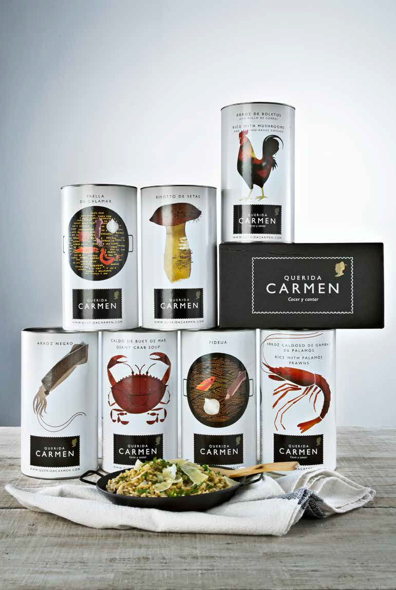 Productos Querida Carmen - Gourmet - El Palacio de Hierro.Querida Carmen son semi-cocinados 100% naturales. Arroces, caldos, sopas... Prepararlos es Cocer y Cantar.     Traditional recipes, homemade preparation, superb presentation and the most romantic name.
