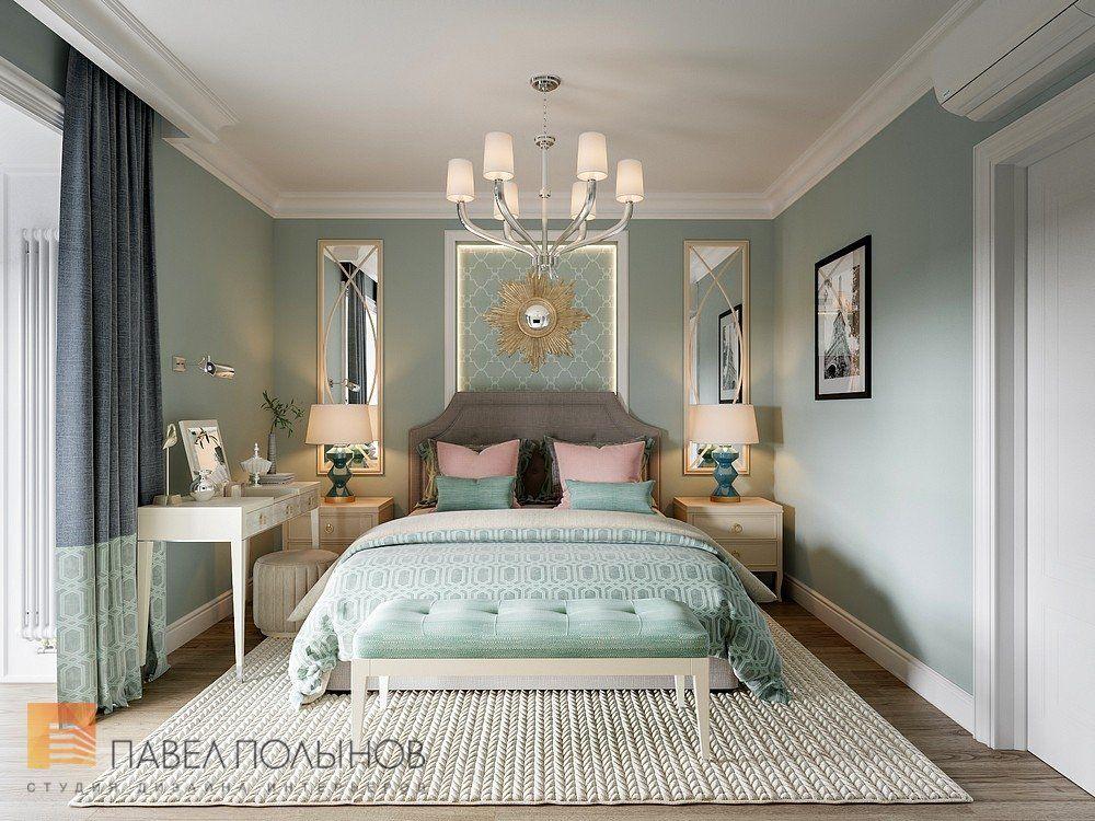 Фото спальня из проекта «Квартира в стиле американской неоклассики, ЖК «Академ-Парк», 107 кв.м.»