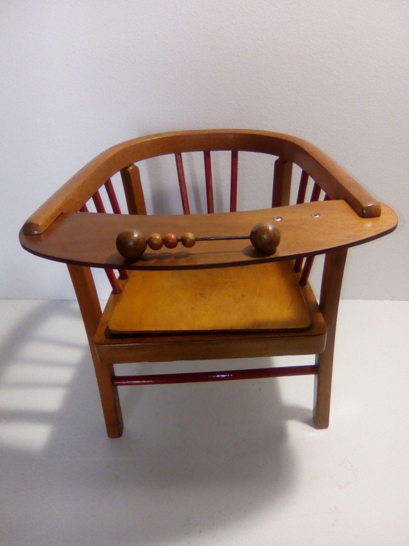 Chair Pot Vintage Baumann Wooden Designer French 1950 Decoration