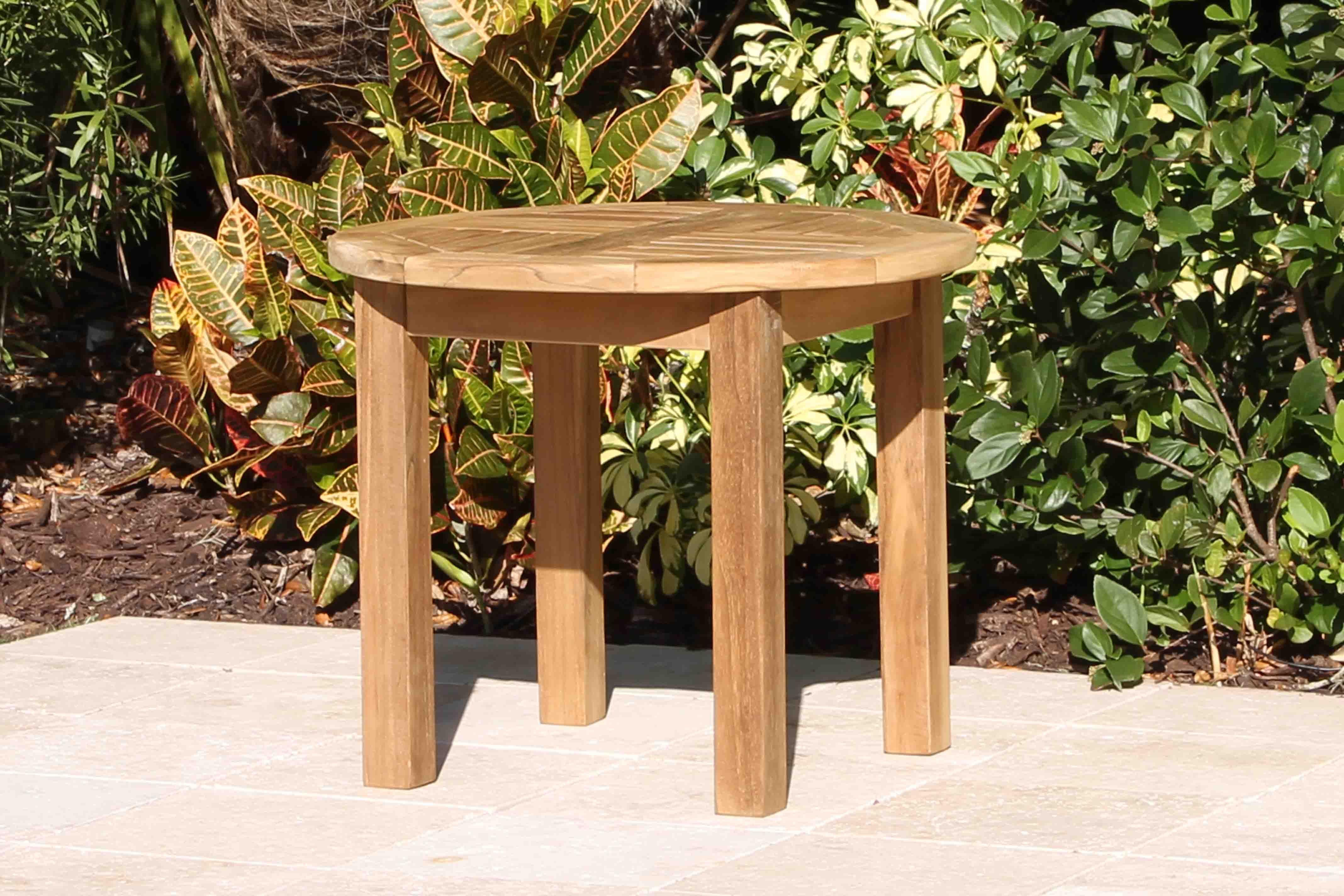 Teak 24in Round Coffee Table Round Coffee Table Teak Coffee Table