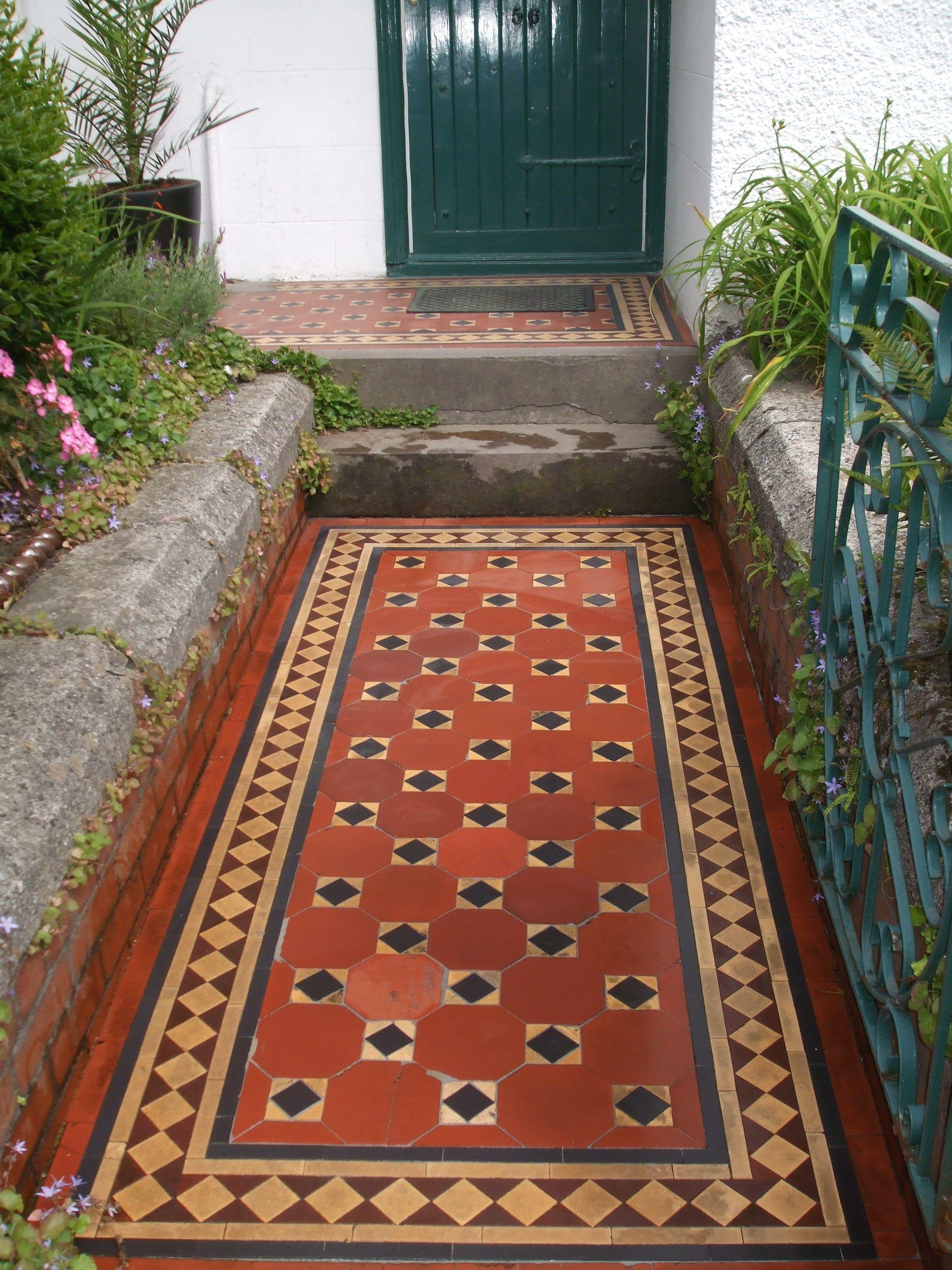 Victorian tiles Victorian tiles, Hall flooring, Outdoor