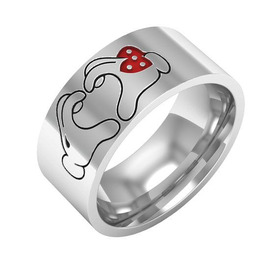 Mickey Minnie Hands Ring Mice Rings By Bandrings