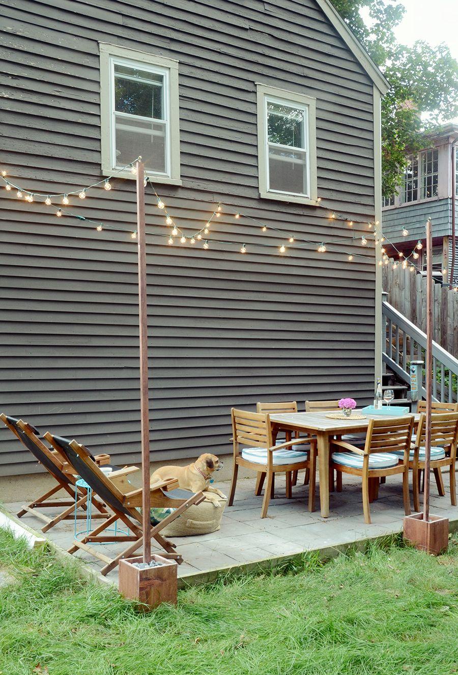 Diy Outdoor Bistro Light Stands For Your Patio Diy Patio
