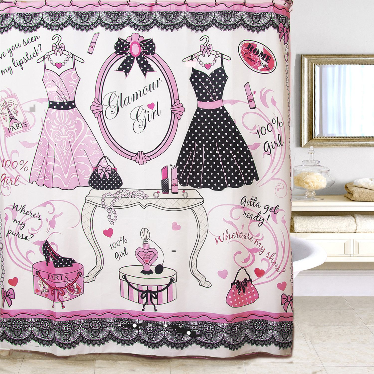 Glamour Shower Curtain | Products | Pinterest | Glamour, Bath ...