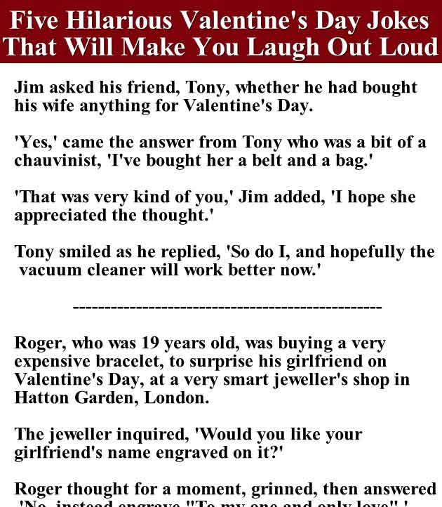 Five Hilarious Valentine S Day Jokes That Will Make You Laugh Out