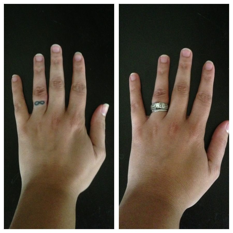 Infinity tattoo on my ring finger Completely hidden when I wear