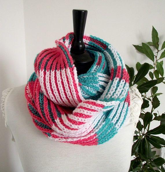 KNITTING PATTERN Brioche two colors - Bridget Scarf - learn to knit ...