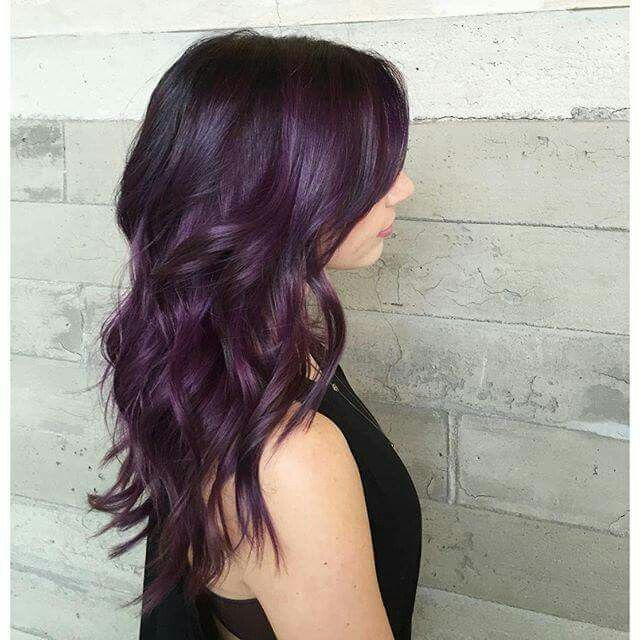 Thats The Perfect Natural Purple Hair Pinterest Natural