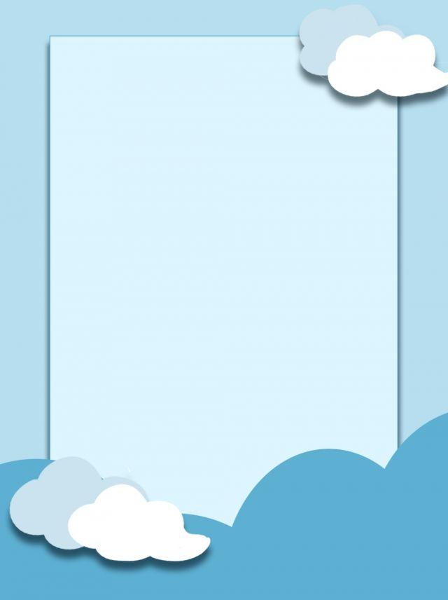 Ceu Azul Nuvens Brancas Fundo Dos Desenhos Animados Cartoon