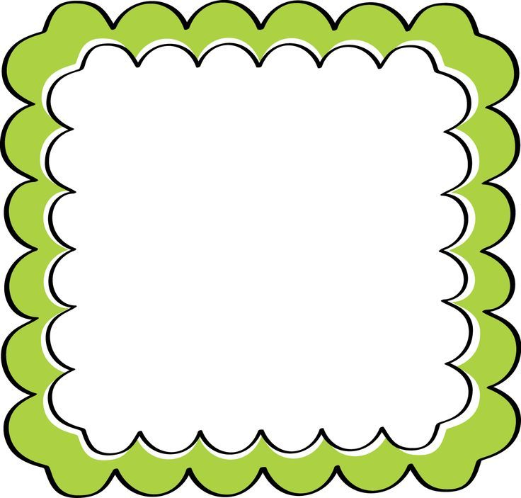 school theme border clipart green scalloped frame free clip 2 rh pinterest nz school border clipart - black and white school clipart borders and frames