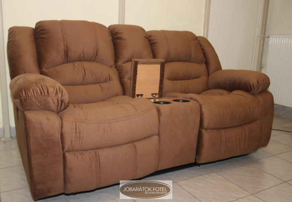 Texan 2 személyes motoros italtartós relax kanapé nagy kárpit ...