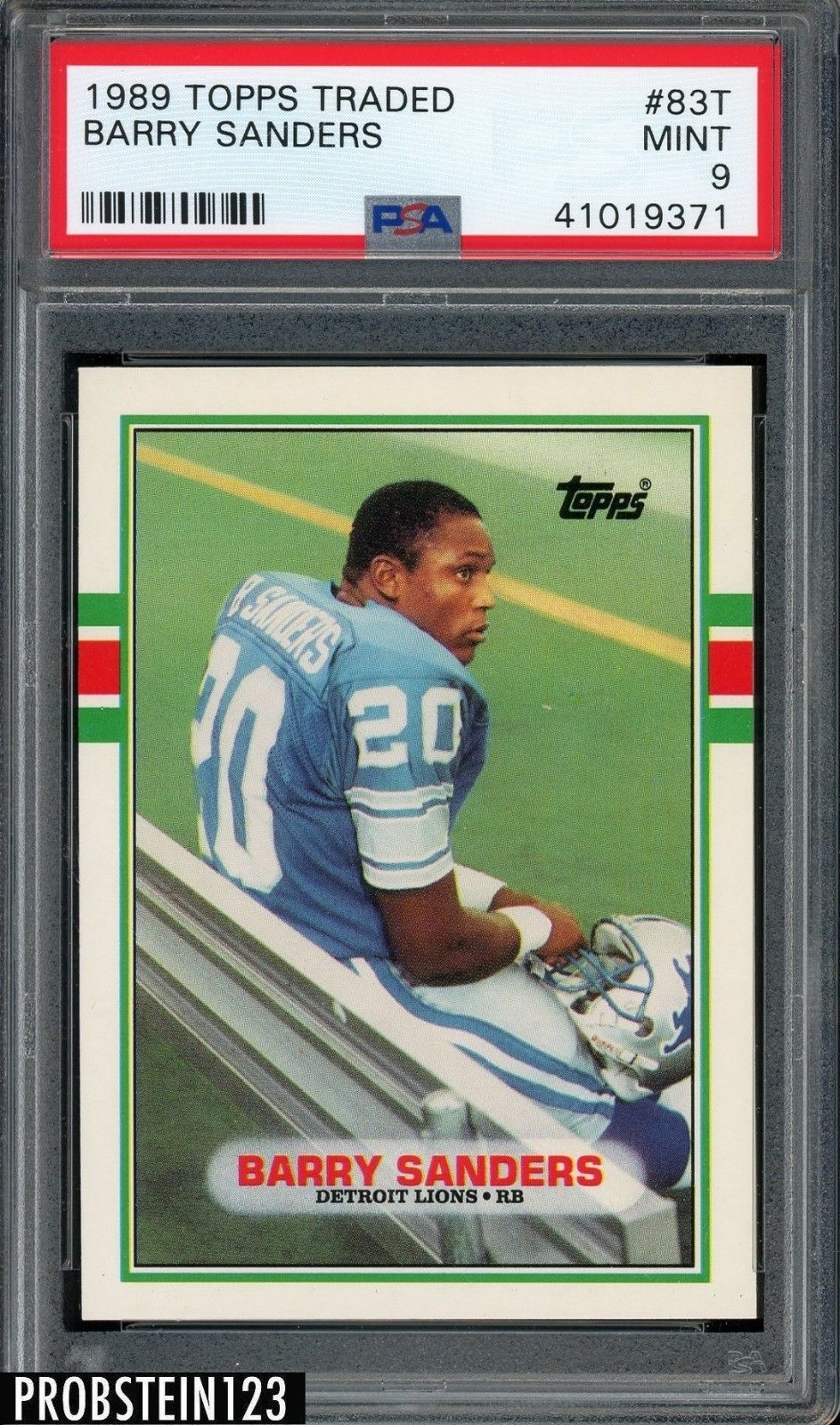 1989 topps traded 83t barry sanders detroit lions rc