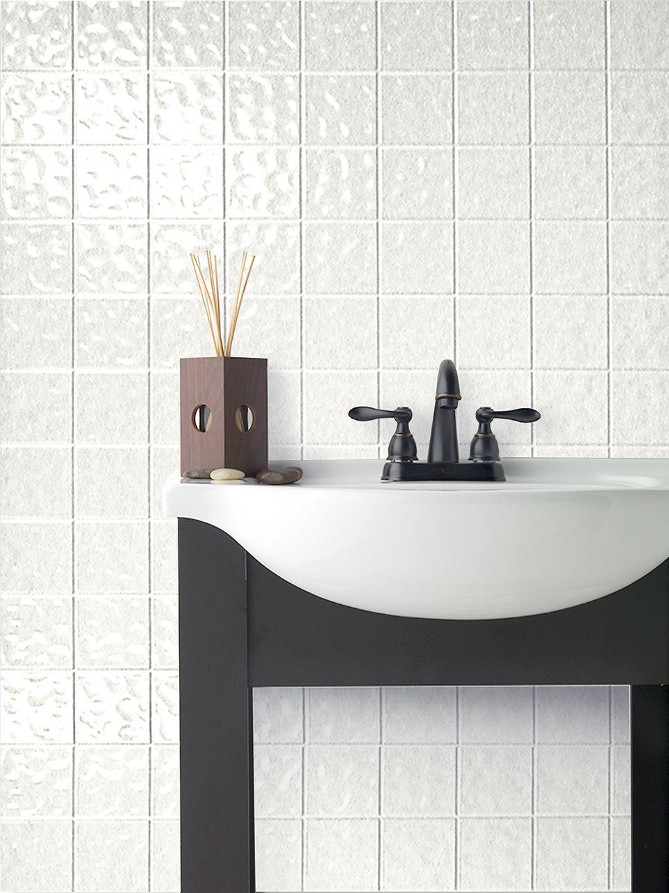 toned white tile board decorative