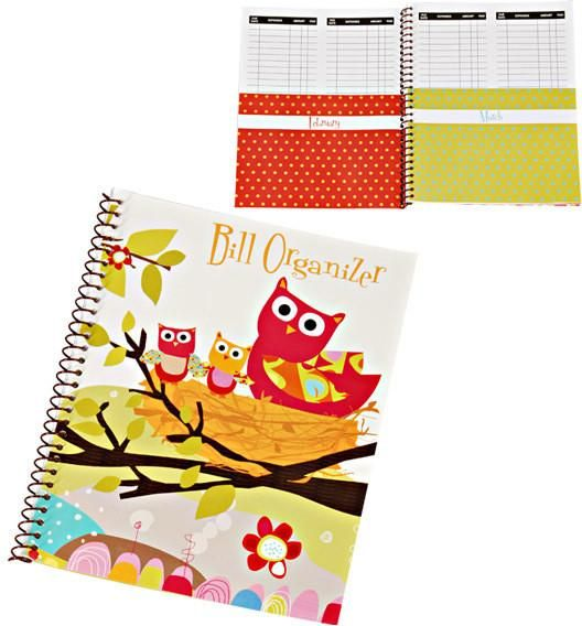 Whou0027s Who Spiral Bound Bill Organizer - 72 Units Spiral and Products - bill organizer
