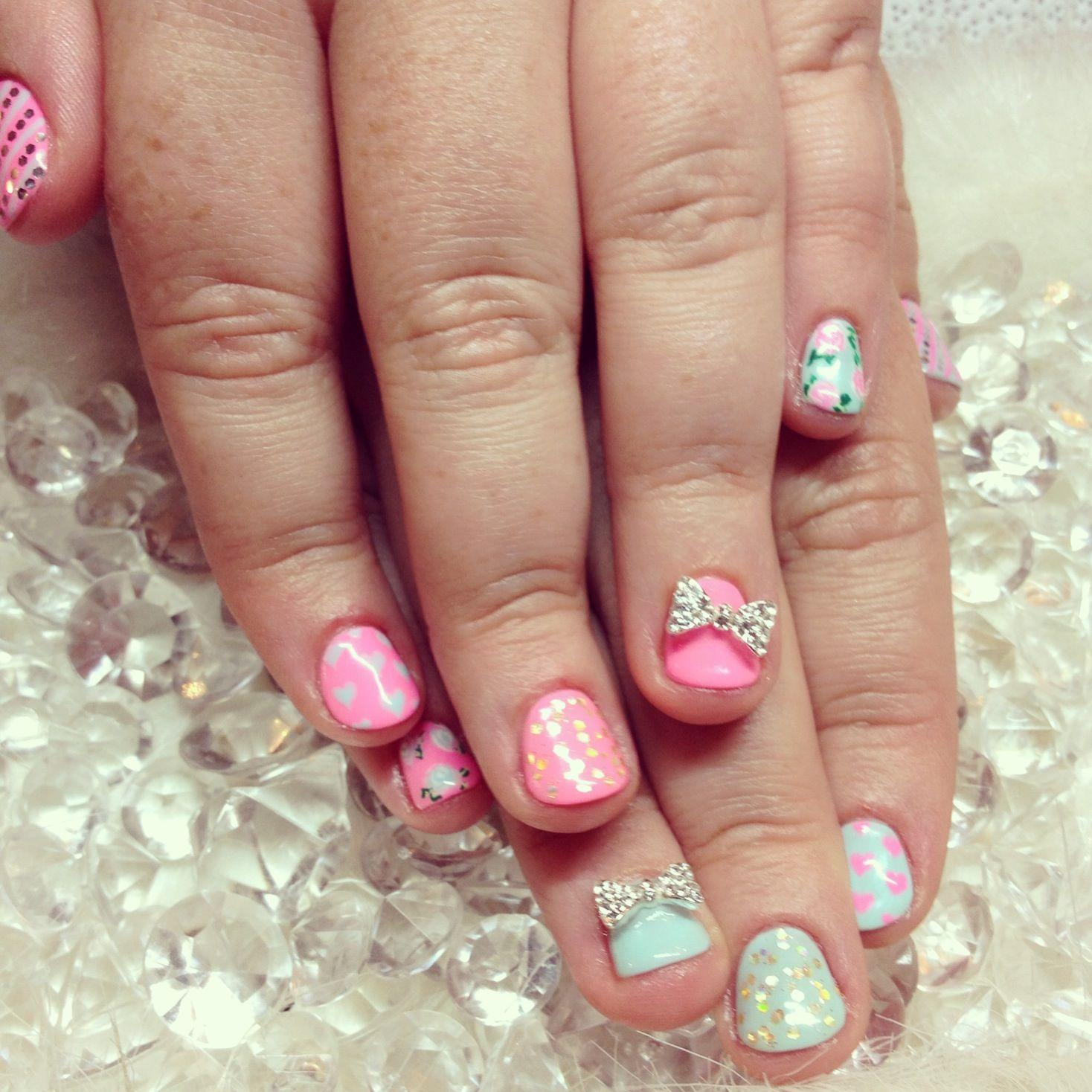 Nail Art For Short Nails Done By Yuki Hearts Salon In Nyc Nail