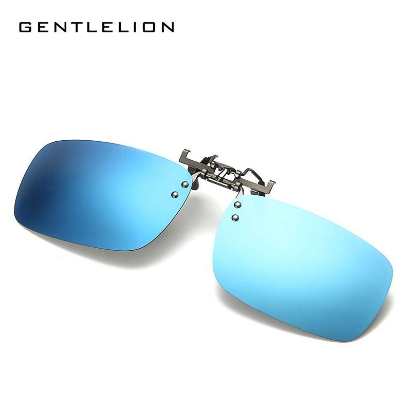 Myopia Polarized Sunglasses Clip-On Men Original Case Polaroid Sun Glasses US