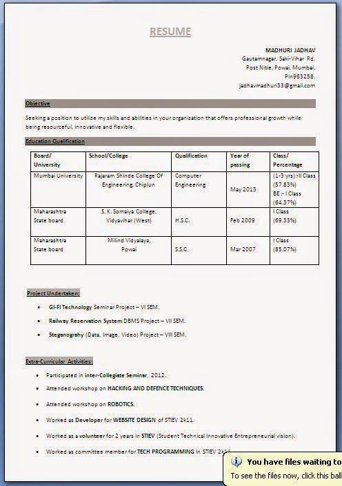 great resume templates free gmail