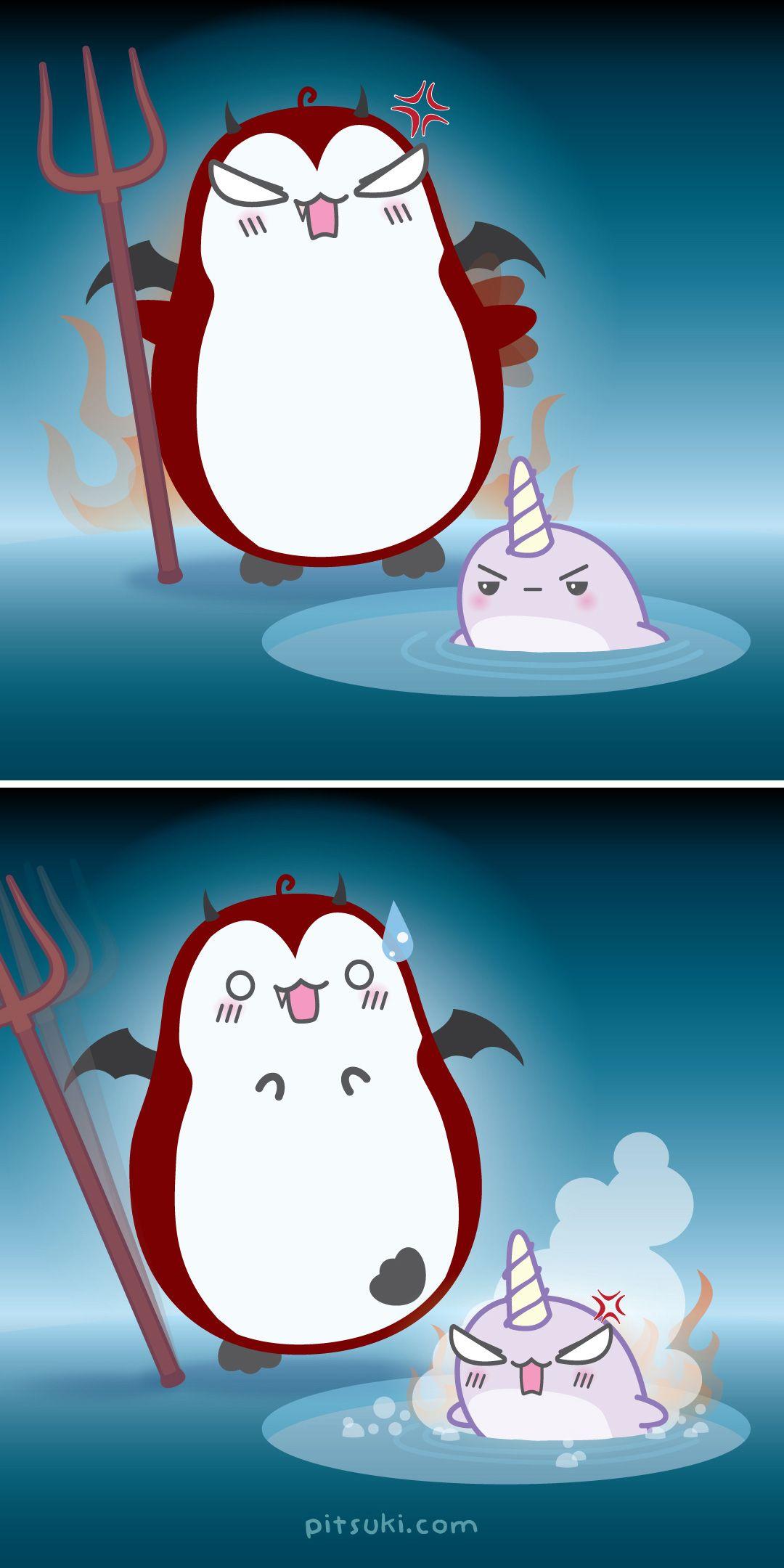 Wrath Of Mome >> Penguin Narwhal Kawaii Cute Illustrator Pitsuki 7deadlysins