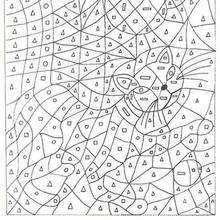 Coloriage magique moyenne section de maternelle color by number coloring pages coloring - Chat a colorier maternelle ...