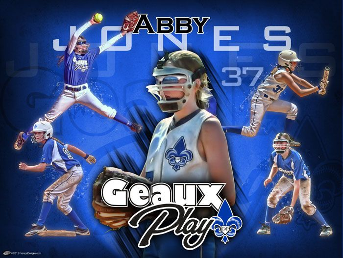 A big thanks to Kathy Jones for choosing us to create a customized softball design for her daughter Abby Jones, a very talented softball (and volleyball) player!  Keep up the great work Abby!