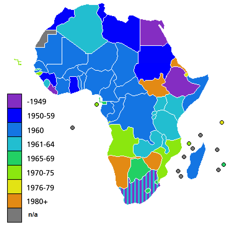 Independence Date Of African Countries North Africa Pinterest - North african countries