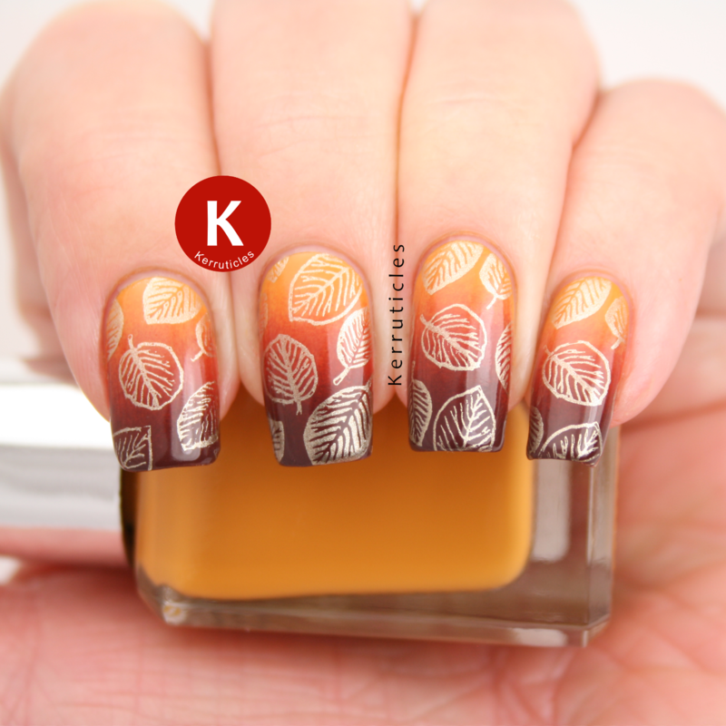 Autumnal leaves / fall leaves nail art by Claire Kerr | nails ...