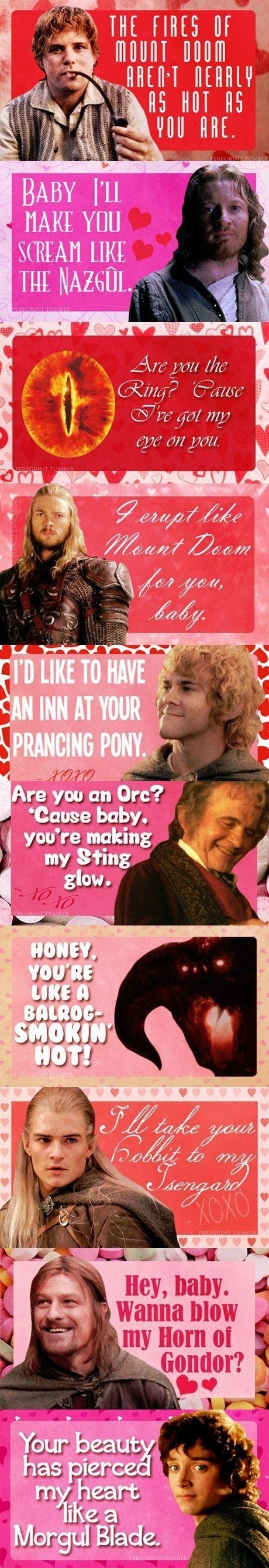 LOTR Pick-up Lines // funny pictures - funny photos - funny images - funny pics - funny quotes - #lol #humor #funnypictures