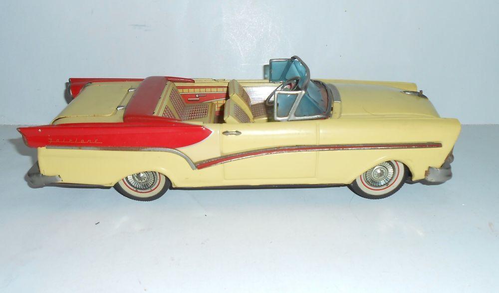 VINTAGE BANDAI TIN FRICTION TOY MODEL CAR 1957 FORD FAIRLANE