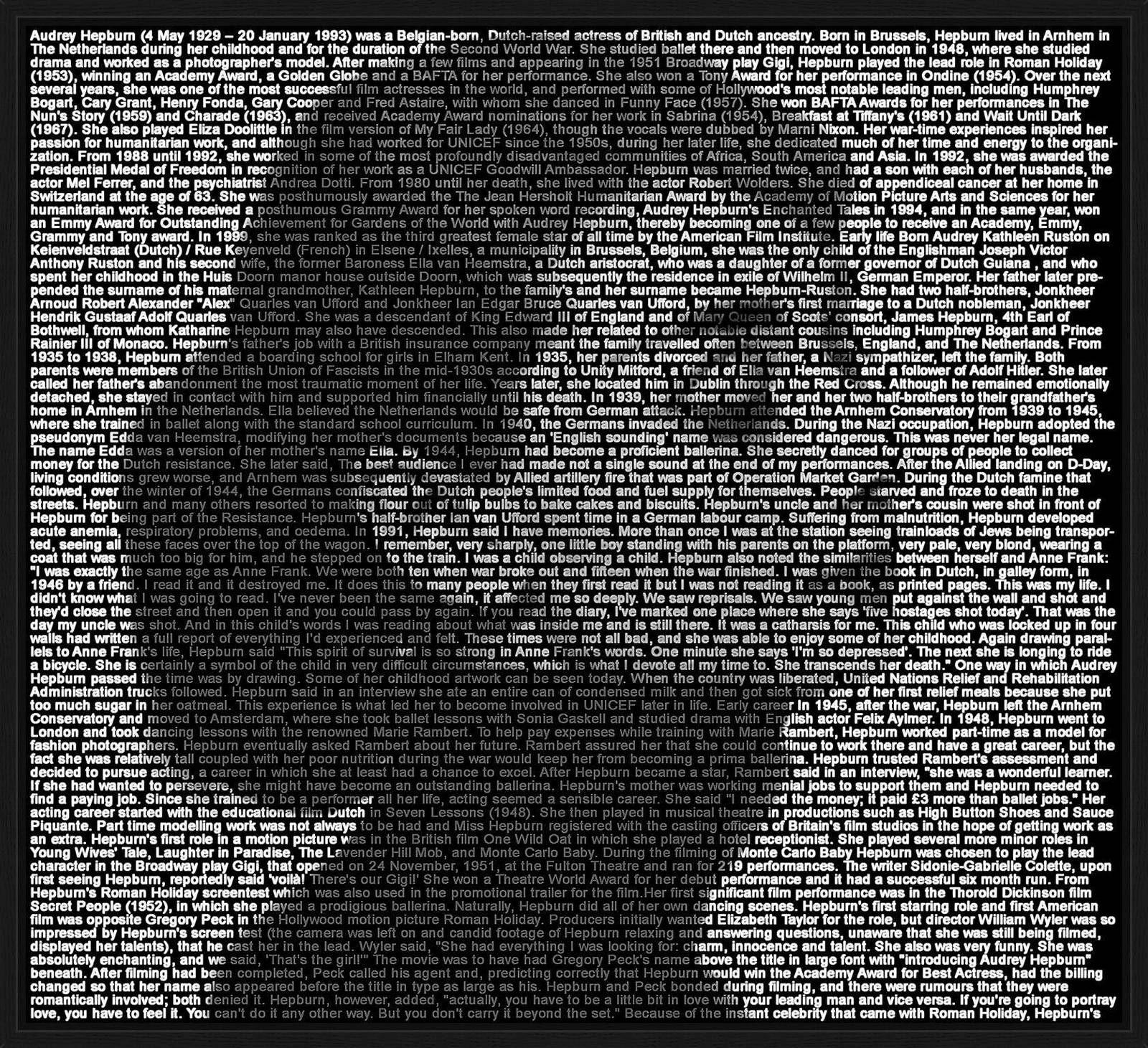 Audrey Hepburn III - Ralph Ueltzhoeffer - pictures, photography, photo art online at LUMAS